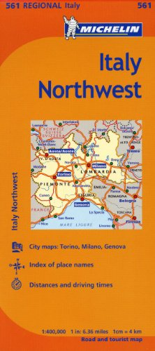 Michelin Italy:  Northwest Map 561 (Maps/Regional (Michelin)) (Italy Driving Map)
