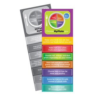 Myplate Jumbo Bookmarks Pack Of 36