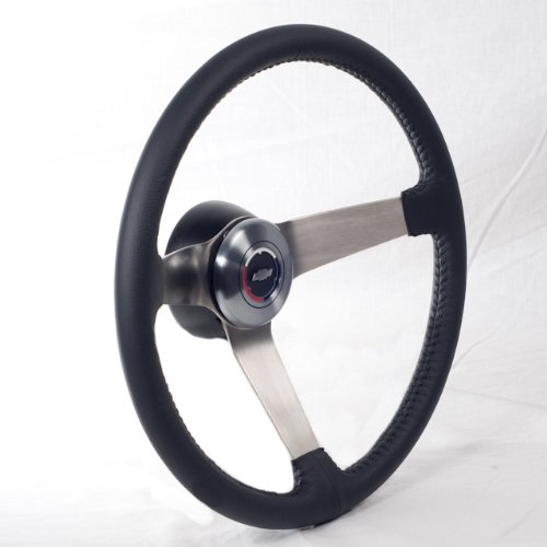 Black Leather Steering Wheel w/Wood Whee - Chevelle Wood Shopping Results