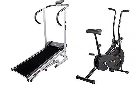 LIFELINE FITNESS COMBO MANUAL TREADMILL AND EXERCISE BIKE Treadmills at amazon