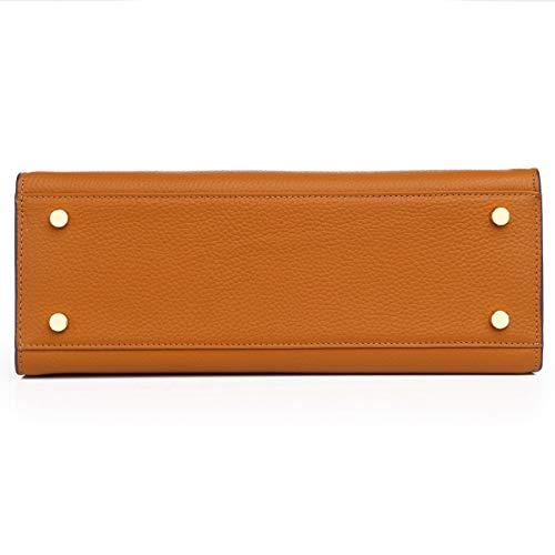 Bag Padlock Designer Brown Hardware With Top handbags Kueh Womens Yellowish Gold for 1xYIAnq