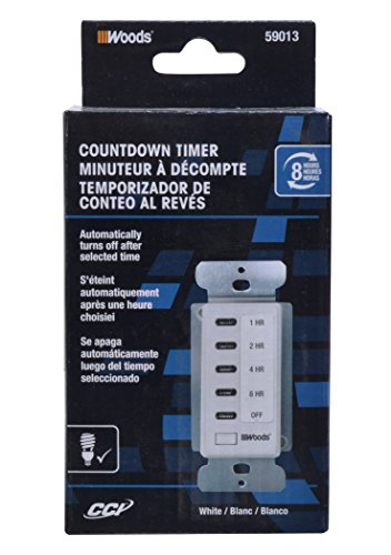 Woods 59013WD In-Wall 8-Hour Digital Countdown Timer (White) by Woods (Image #2)