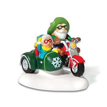 Department 56 North Pole Motorcycle Test Drive