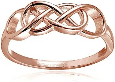 Sterling Silver High Polished Intertwining Infinity Ring