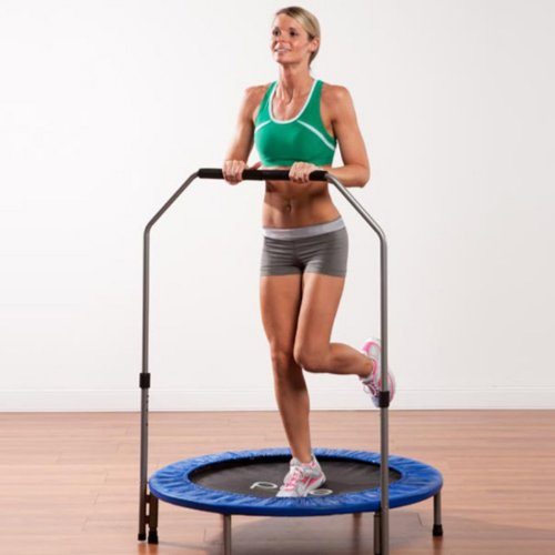 Pure Fun 40 in. Mini Trampoline with Hand Rail