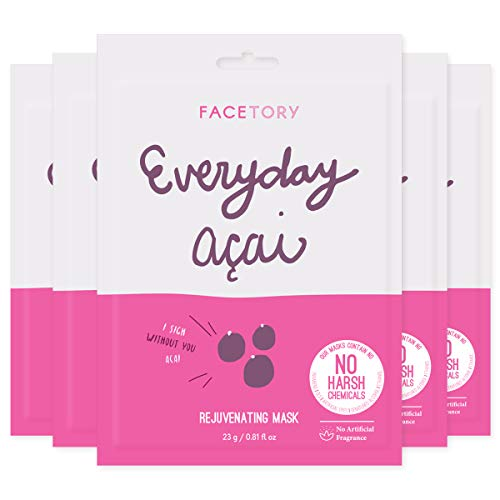 Everyday Acai Rejuvenating Mask With No Harsh Chemicals - Rejuvenating, Calming, and Balancing (Pack of 5)