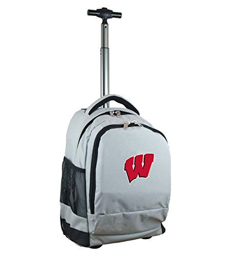 Denco NCAA Wisconsin Badgers Expedition Wheeled Backpack, 19-inches, ()