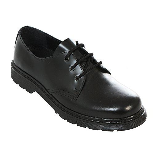 Schuhe Nero Boots Nero Fatti Su amp; Su Eu Loch Nero Neu Facile 3 Braces Schwarz Con Stivali Monochrom Nero Gli xYTvwqpYr