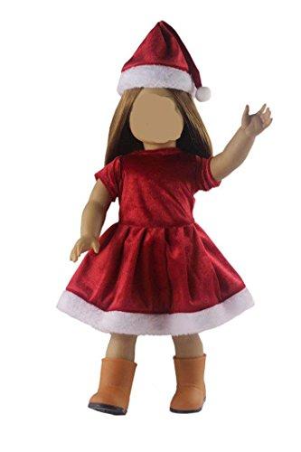 Doll Clothes FOR 18'' Christmas Xmas Costume Uniform Dress Skirt -