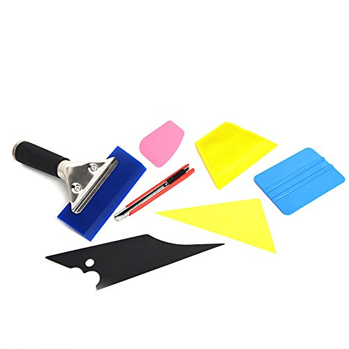 CISNO 7 in 1 Car Window Film Tools Squeegee Scraper Set Kit Car Home Tint