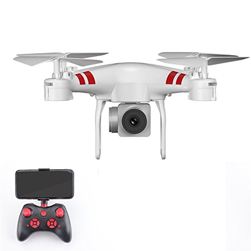 Littleice KY101D 2.4Ghz 6-Axis UAV Wide Angle Lens 720P/1080P HD Camera Remote Control Quadcopter RC Drone WiFi FPV With 1800Mah Battery (Wide Angle Lens 1080P HD Camera White) by Littleice