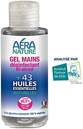 Aera Nature Gel Desinfectants Mains 75ml Bactericide Fongicide