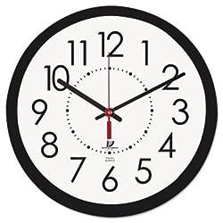 Chicago Lighthouse 14.5 Contemporary Wall Clock, Black