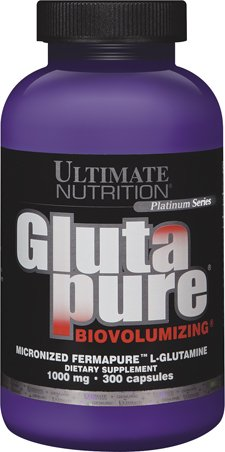 Ultimate Nutrition GlutaPure Micronized L-Glutamine Supplement for Men & Women 1,000mg,300 ()
