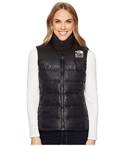 The North Face Womens Vest - The North Face International Collection Nuptse Vest TNF Black Flag Print Women's Vest