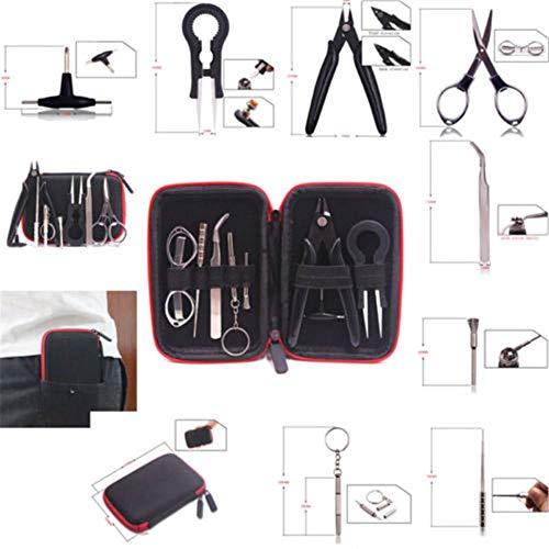 9pcs Small Mini Repair Tool Portable Building Tweezer Tool Kit Home Repair Set with Zipper Case Bag