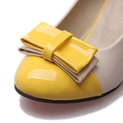 con MMS06139 EU Sconosciuto Donna 1TO9 Yellow Zeppa Giallo 35 Sandali BfBxRnz