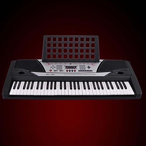 Black 61 Key LCD Display Electronic Keyboard 37' Digital Electric Piano Personal Music Beginner EN71
