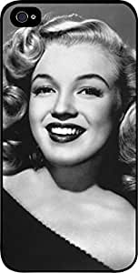 Marilyn Monroe Laughing -Color- Hard Black Plastic Snap - On Case -Apple iPhone 4/4s ONLY- Great Quality!