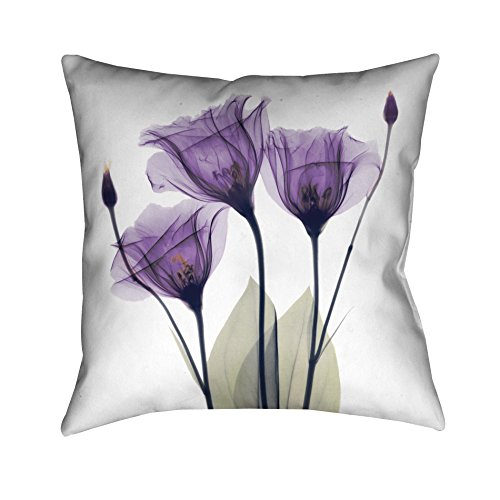 Laural Home GH18X18DP Lavender Hope Decorative Pillow,Purple/White