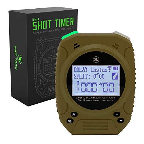 SPECIAL PIE Shot Timer - 2019 Newest 3 in 1 Shooting Timer for Firearms Airsoft Stop Watch Perfect for Pistols Rifle Dry Fire Shot in USPSA, IPSC, APSC, IDPA, 3 GUN, Steel Challenge Competition Timer