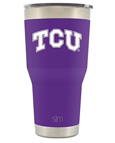 Simple Modern TCU 30oz Cruiser Tumbler - Vacuum Insulated Stainless Steel Travel Mug - Texas Christian University Horned Frogs Tailgating Hydro Cup College Flask by Simple Modern