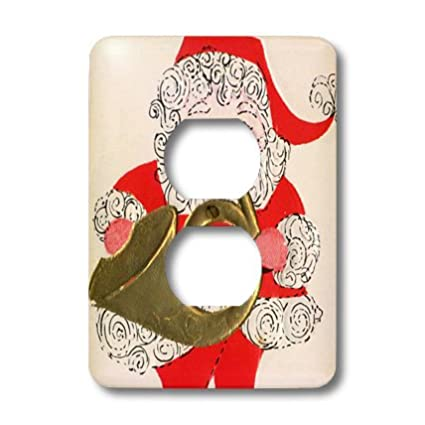 3dRose lsp_29059_6 Santa Playing the French Horn Outlet Cover Multi-Color