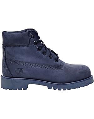 6 Inch Premium Little Kids Boots Dark Blue Textured tb0a198x!