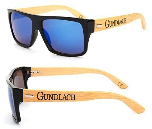 Blue Square Frame Personalized Engraved Sunglasses |