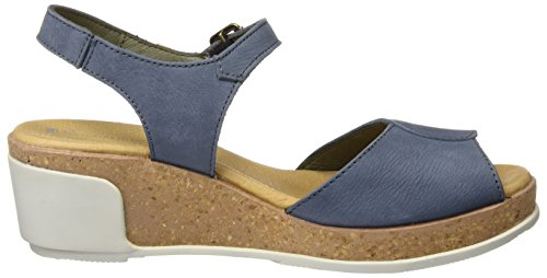 El Toe Blu Sandali Pleasant N5000 Naturalista Open Donna vaquero Leaves r1qrOxC