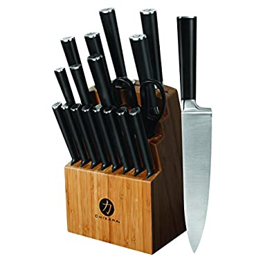 Ginsu 07133 19-Piece Chikara Signature Series Cutlery Block Knife Set