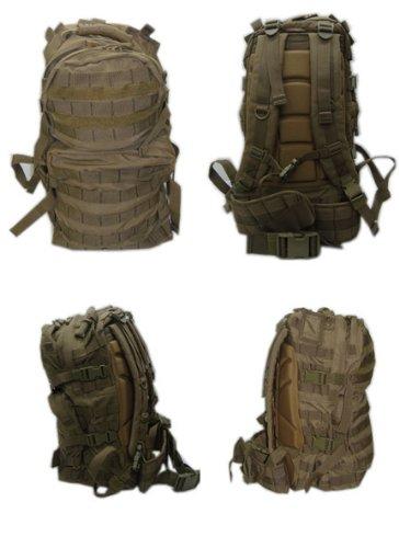 MOLLE Medium USMC Assualt Backpack Pack-TAN, Outdoor Stuffs