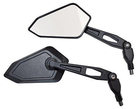 Spiegel BOOSTER, schwarz, M10 Rechtsgewinde, incl. 1 extra Adapter M10 Linksgewinde f. Yamaha, Nylon/ABS, Paar, E-gepr.