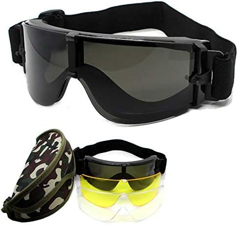 CUHAWUDBA Gafas Protectoras para Los Ojos Gafas de Sol X800 Gafas Gafas Gafas para el Motor Gafas Ciclismo