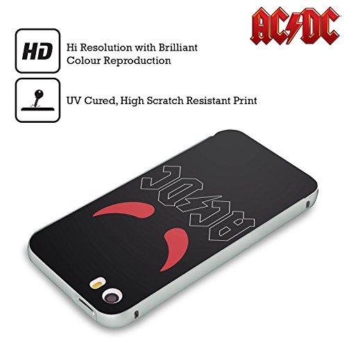 Officiel AC/DC ACDC Klaxons Logo Argent Étui Coque Aluminium Bumper Slider pour Apple iPhone 5 / 5s / SE