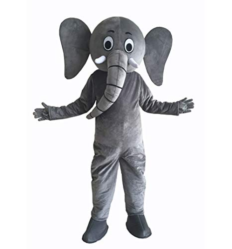 Gray Elephant Mascot Costume Party Dress Adult Size Party Mascot Costume (L 5'11