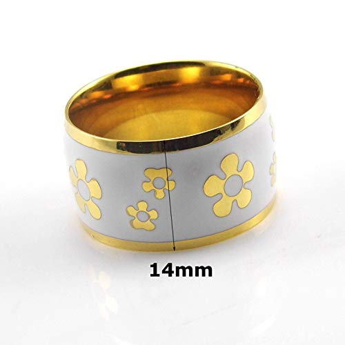 Large Colorful Enamel Stainless steel Ring for Women