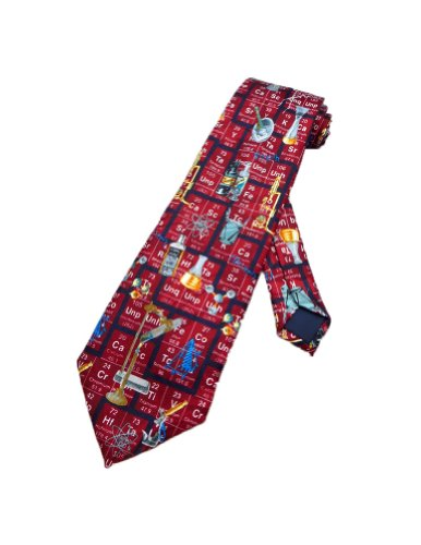Steven Harris Mens Periodic Table Chemistry Necktie - Red - One Size Neck Tie