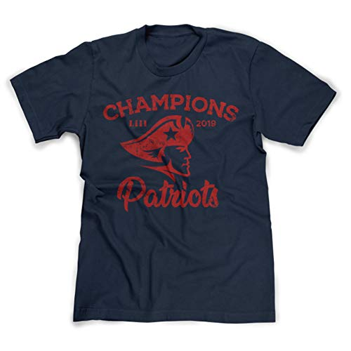 Football New Tt - New England 2019 Football Champions Distressed Retro T-Shirt - XL