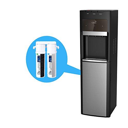 Oasis Bottleless Water Dispenser, Tri-Temp (Hot, Cold, Room-Temp) (2 stage EZ Change)