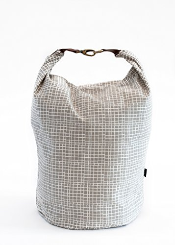 Maika BUC-1006-X Canvas Snap Fold Woven Bucket, X-Large, Grey (Cabinet Tall X-large)