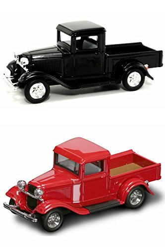 1934 Ford Pickup Truck Diecast Car Package - Two 1/43 Scale Diecast Model Cars