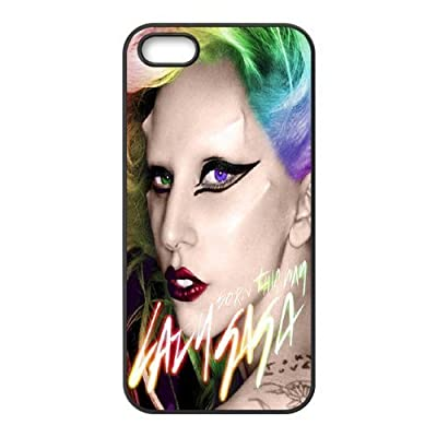 LIUMINGGUANG Phone case Style-15 -Sexy Goddes Lady Gaga Pattern Protective Case For Apple Iphone 5 5S Cases