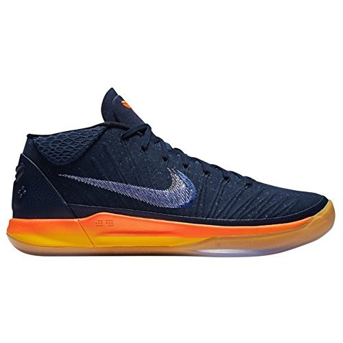 NIKE Men's Kobe AD, Obsidian/White-Mega Blue, 12 M US
