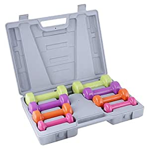 Liveup Sports LS238-10kg Dumbbell Set, Multi Color