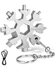 18-in-1 Snowflake Multitool, Gifts for Men, Stainless Steel Snowflake Multi-Tool, Christmas Stocking Stuffers for Dad Gifts for Men/Women