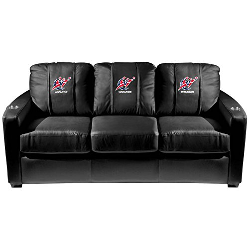 XZipit NBA Silver Sofa with Washington Wizards Logo Panel, Black