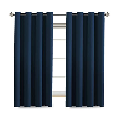 - H.VERSAILTEX Premium Blackout Thermal Insulated Innovated Microfiber Home Fashion Window Curtains for Bedroom,Antique Grommet,52