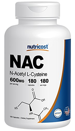 Nutricost N Acetyl L Cysteine (NAC) 600mg; 180 Capsules