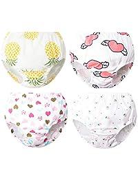 XNN Soft Cotton Baby Toddler Underwear Little Boys Girls Assorted Briefs(Pack of 4)